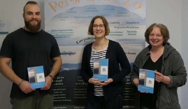 Vincent Vetter (Baustelle Zukunft), Eva Bezecná (Projektleiterin) und Anke Roser (Basiscoaching) (von links).