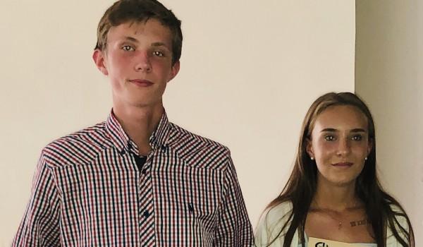 Jon Pieere Nolden und Marie Caroline Nolden von der Walterichschule Murrhardt haben für ihr außergewöhnliches Engagement den Sozialpreis der Erlacher Höhe erhalten.